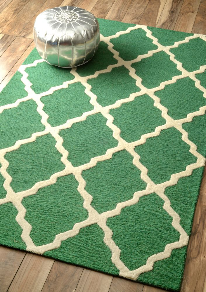 Homespun Moroccan Trellis Tan Rug | Contemporary Rugs #RugsUSA