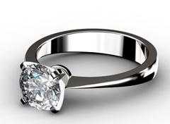 Diamant Verlobungsring Ewigkeit, 750er Weißgold 18 Karat