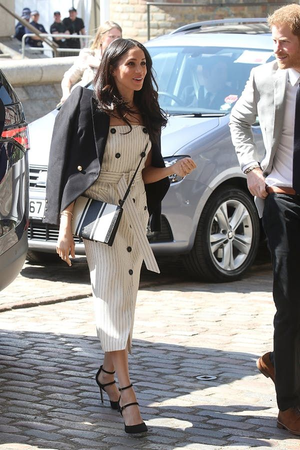 0c4b995f Meghan Markle's Fashion Transformation: From Ruched Miniskirts to Belted  Overcoats #purewow #royal family #style #entertainment #news #meghanmarkle # fashion ...