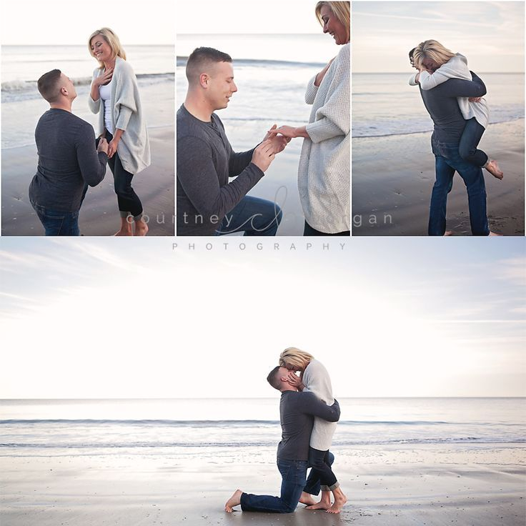 Wedding Proposal Ideas Beach: Surprise Beach Proposal! Couples Beach Session
