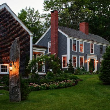 Colonial Farmhouse - farmhouse - exterior - portland maine - Fine Lines Construction