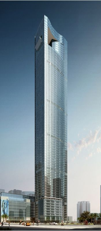 Xiamen International Centre, Xiamen, China by Marshall Strabala of Gensler Architecture :: 61 floors, height 339 m