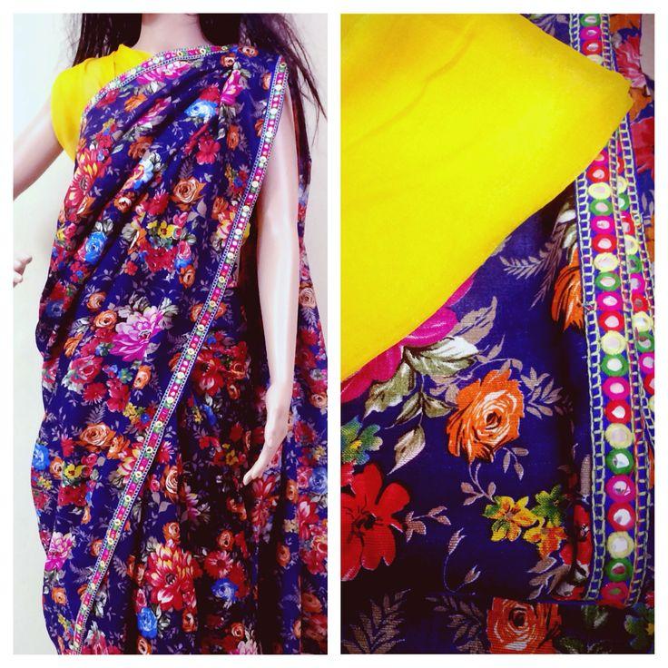 Cotton Floral saree No COD ❌ Bank transfer only✅ DM for price   #saree #sareelover #Ethniclover #Cotton #Designer #ethnic #nimeetelegance #Instock
