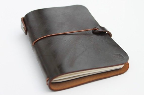 LEATHER COVER for Midori passport size - pocket size notebooks - FIELD notes on Etsy, $39.00