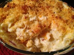 Lobster Mac and Cheese. The best I've ever had.Try the recipe!!!
