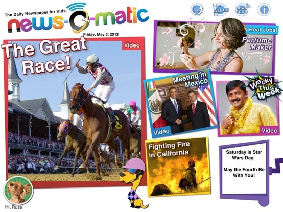 Today's edition of News-O-Matic covers Obama's visit to Mexico, this week's wacky news, an interview with a perfume maker, wildfires in California, and the Kentucky Derby! 05.05.2013