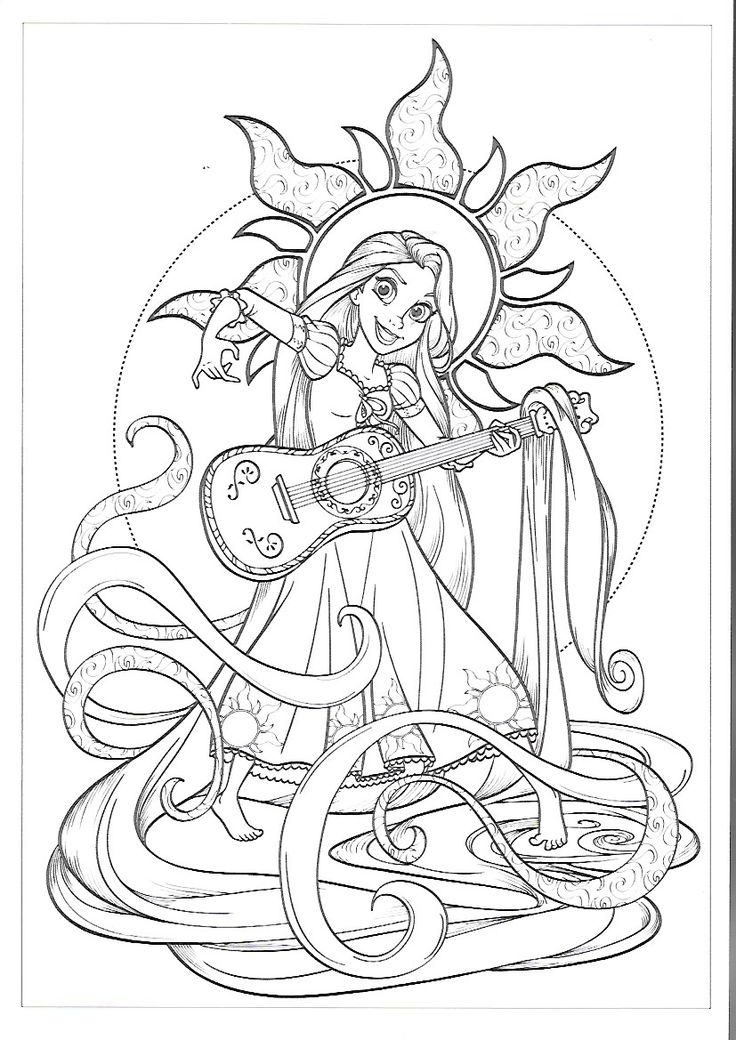Melody Disney Coloring Pages Detailed Coloring Pages