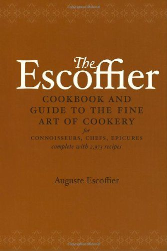 """""""The Escoffier Cookbook"""" is a heavily abridged American version of Auguste Escoffier's 1903 book """"Guide Culinaire"""". It is a fascinating look at the art of professional European cookery at the beginning of the 20th century. The Escoffier Cookbook includes weights, measurements, quantities, and terms according to American usage. Features ONLY 2,973 recipes (of the over 5,000 in the original book!)"""