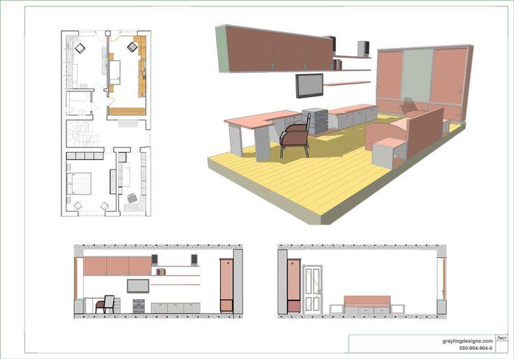 Планировка детской 3 – Архитектурная студия Grayling Design