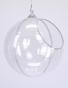 Boule présentoir transparente en 2 parties Ø 14,5 cm (ouverture Ø 8 cm)