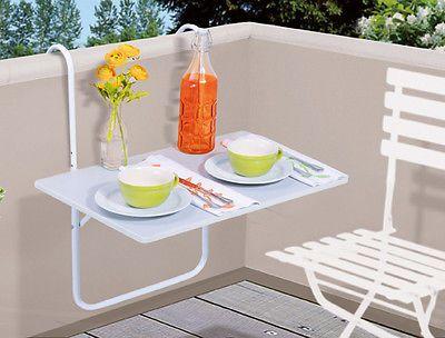 balkontisch klapptisch balkon tisch 60x40 cm weiss garten. Black Bedroom Furniture Sets. Home Design Ideas