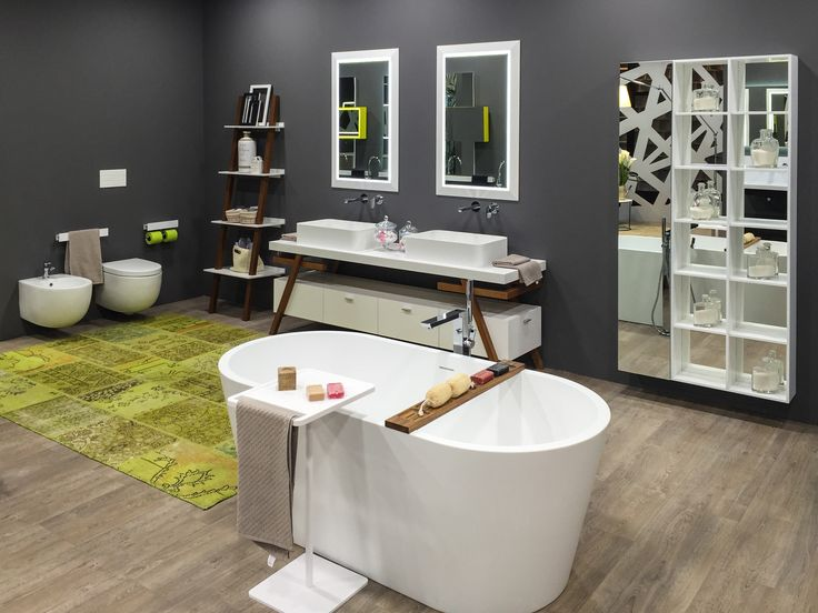 MOMA Design showing all new vanities, showers, and bathtubs!