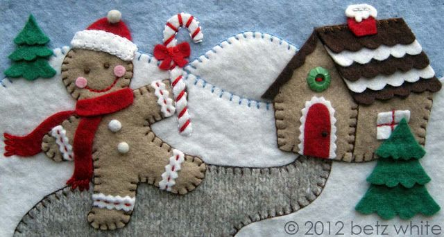 If you're a longtime reader of this blog, you may remember Tissue Boxes of Christmas Past: the Dove and the Target characters I stitched in felt. I had such a great time making them, that I was thrilled when I was asked last year to work on a new set of felt appliquéd boxes. Thrilled! ...