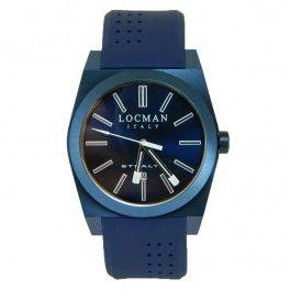 Orologio solo tempo da uomo Locman Italy collezione Stealth tatlmente blu.