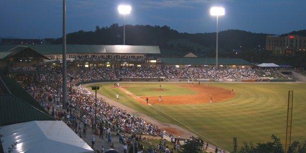 Smokies Park, Sevierville, TN. Home of AA Southern League Tennessee Smokies--a Cubs farm team.