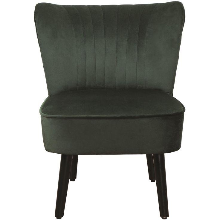 Kodu Velvet Slipper Chair - Emerald | BIG W | Comfy office ...
