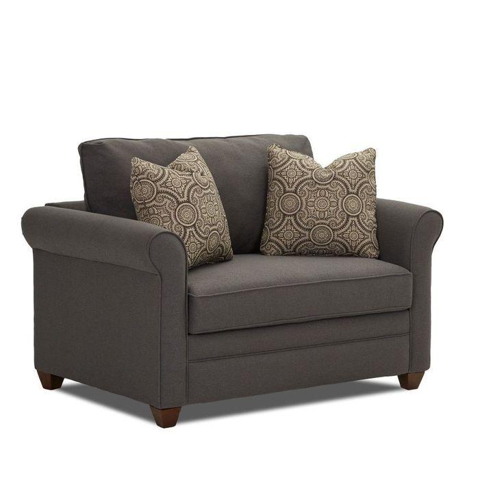 Klaussner Furniture Dopler Contemporary Innerspring Chair Sleeper