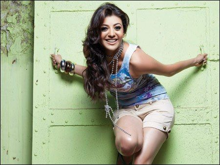 Kajal Agarwal Latest Blue dress hot Stills, Photo Gallery