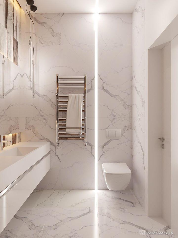 Pin By Nataliya Shapiro On Sochetanie Dereva I Metala V Interere In 2020 White Marble Bathrooms Bathroom Design Luxury Modern Bathroom Design
