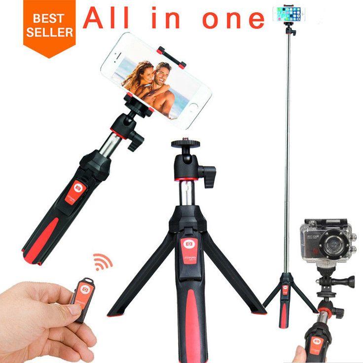 Selfie Stick Tripod Stand 4 in 1 Extendable Monopod Bluetooth Remote Phone Mount #ulanzi