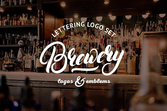 Brewery Logo Set by Letters-Shmetters on @creativemarket