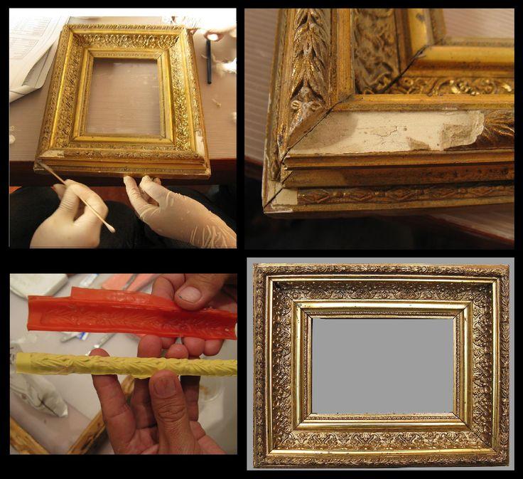 restauracin de un marco dorado