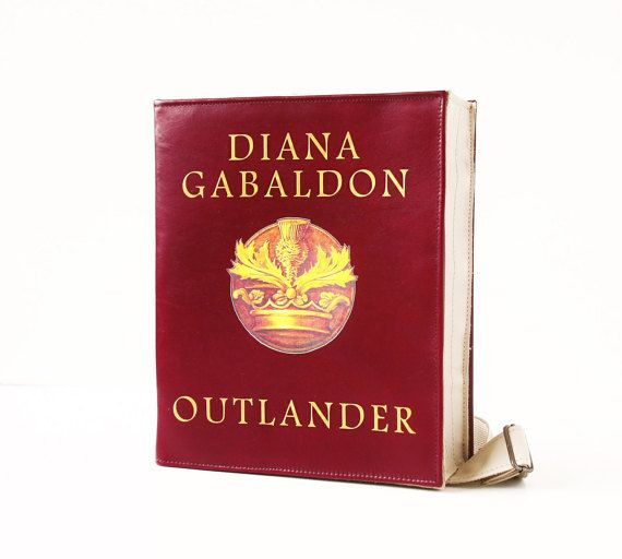 Outlander Leather Book Bag Vinous Leather Book by krukrustudio