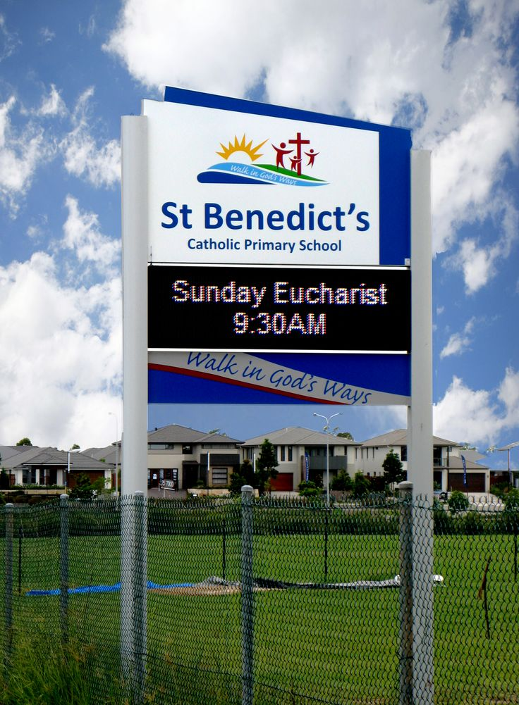 St Benedicts Catholic Primary School #CSI #Corporate #sign #industries #custom #design #signage #LED #LEDsignage #unique #branding #awareness #recognition #identity