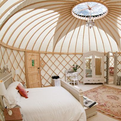 Best Glamping Sites in the British Isles - Priory Bay