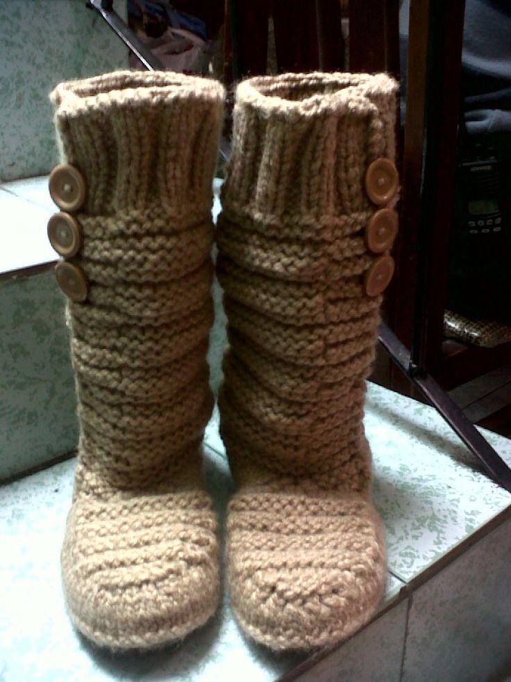 botas tejidas con agujetas | BOTAS | Pinterest