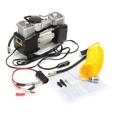 150PSI 60L 12V Air Compressor 4WD Tire Inflator Pump Portable Kit Pressure Pump