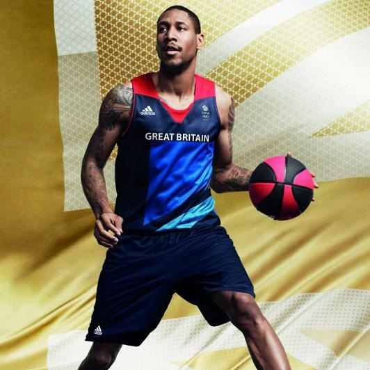 Drew Sullivan in Basketball Vest - London 2012 Olympics - Icon, worked closely with adidas to deliver the launch of Team GB's athletes' kit