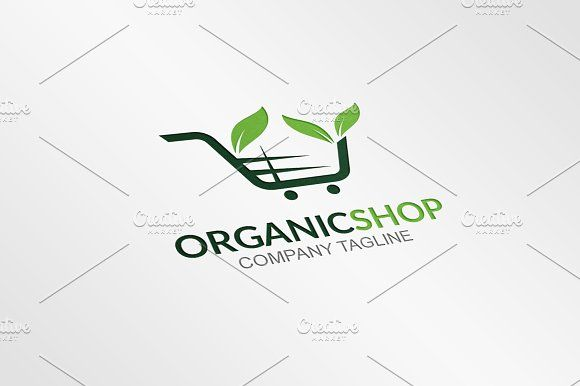 Organic Shop - Logo Template by GoldenCreative on @creativemarket
