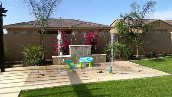 backyard splash pads | Gallery