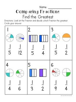 Comparing Unit Fractions Game FREE | Fraction games ...