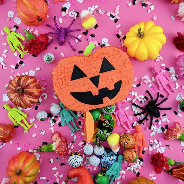 Mini Halloween Piñata, Mini Pumpkin Piñata, Halloween