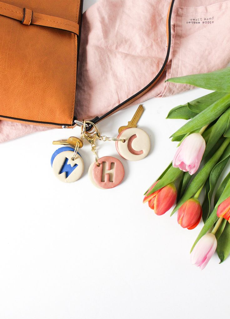 DIY clay letter keychain | www.homeology.co.za