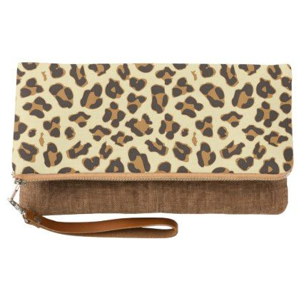 Chic brown leopard skin print clutch - chic design idea diy elegant beautiful stylish modern exclusive trendy