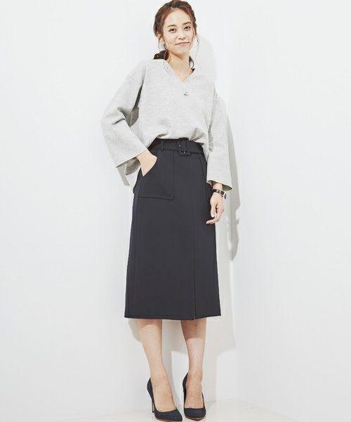 STUDIOUS WOMEN(ステュディオス ウィメンズ)のSTUDIOUS ハイウエストスリットスカート(スカート)|詳細画像