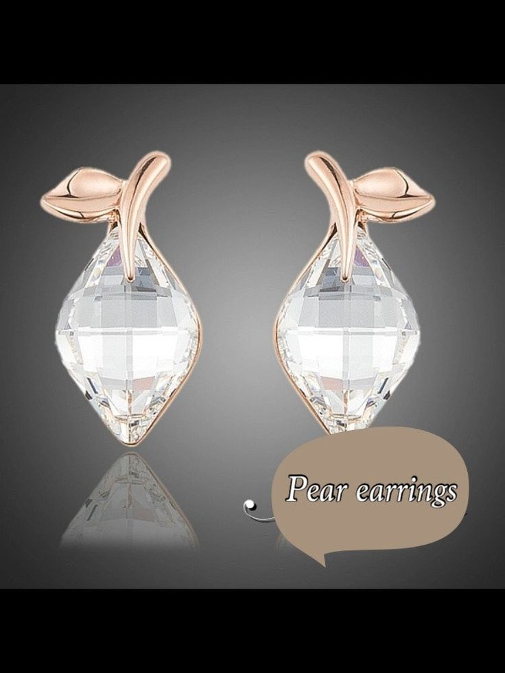 Pear earrings  kod 512512