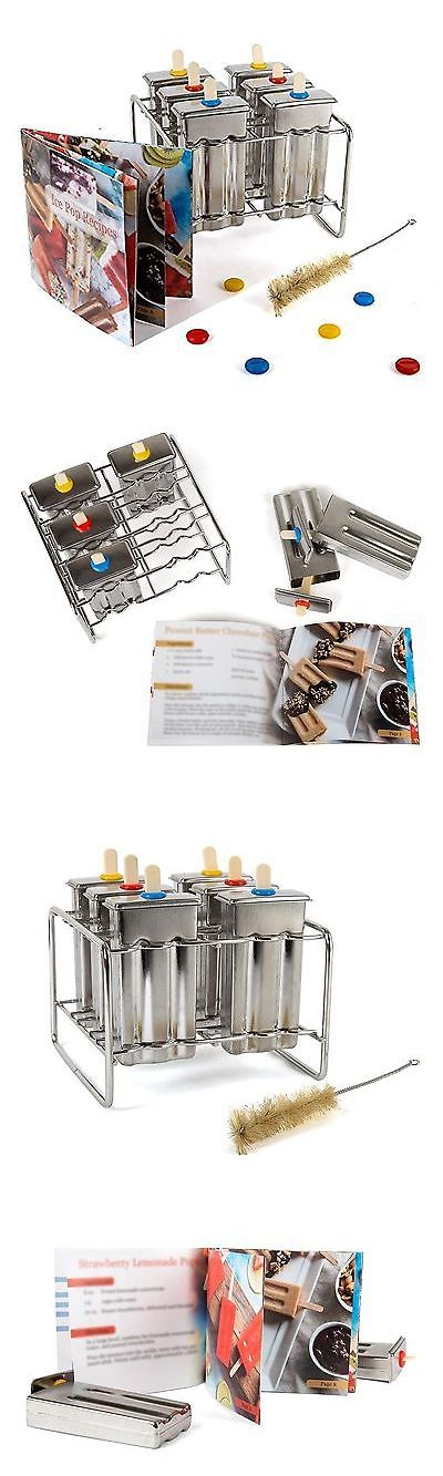 Ice Pop Molds 178056: Stainless Steel Popsicle Molds And Rack - 6 Ice Pop Makers With 12 Reu... No Tax -> BUY IT NOW ONLY: $55.66 on eBay!