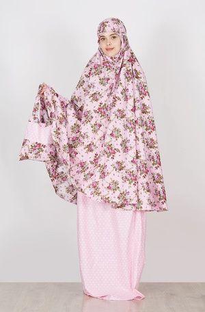 Tazkia Collections  Polka Rose Pink  IDR 214.000  Jual Baju dan Busana Muslim Modern | Hijabenka