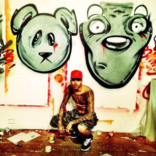 Chris Brown artwork - kid zoom inspired defo wefo!