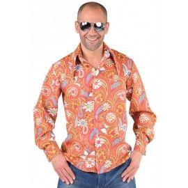 Déguisement chemise hippie paisley homme 70's luxe