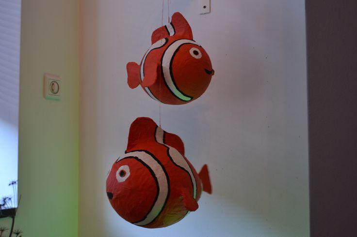 nemo, gemaakt van papier-mache en balloon by Linda van Deursen