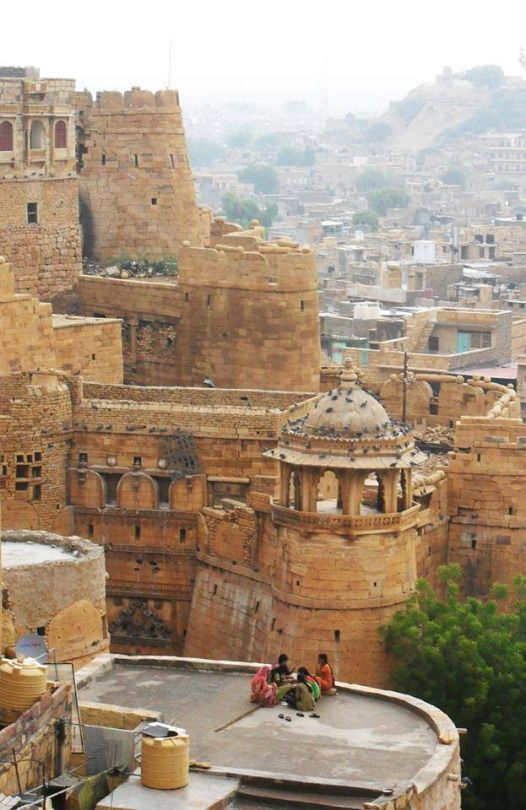 Rooftop of a Rajasthani fort