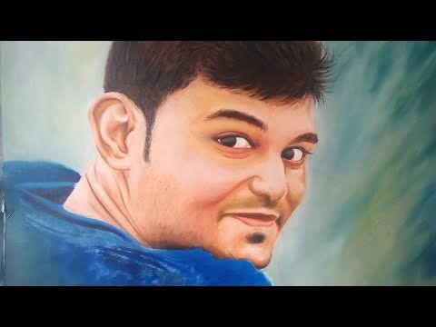 MY ORDER WORK | OIL PENTING OF A POTRAIT | RAINBOW ART BY