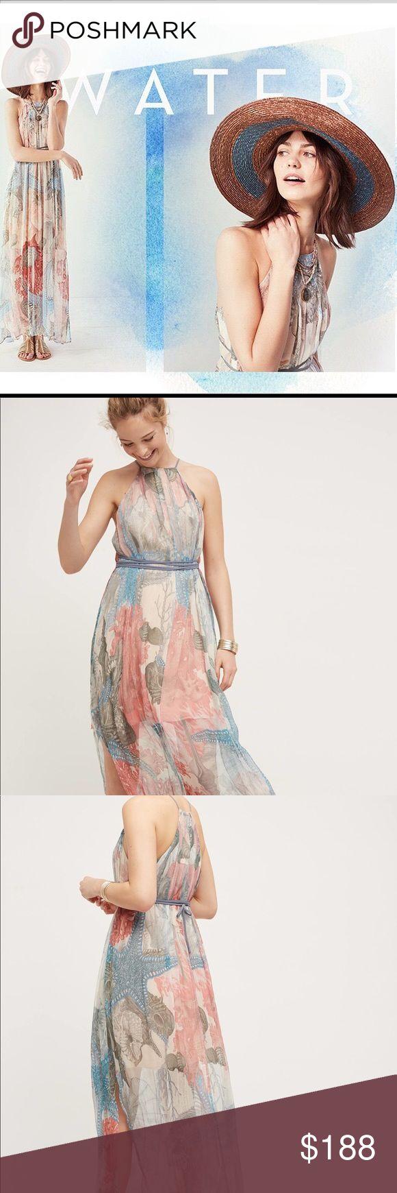Comingsoon: Anthropologie Sea Star Silk Maxi Dress Stunning silk chiffon- like maxi dress by Moulinette Soeurs for Anthropologie 😍😍😍 Anthropologie Dresses Maxi