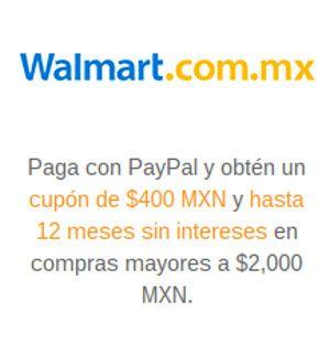 Walmart cupon PayPal