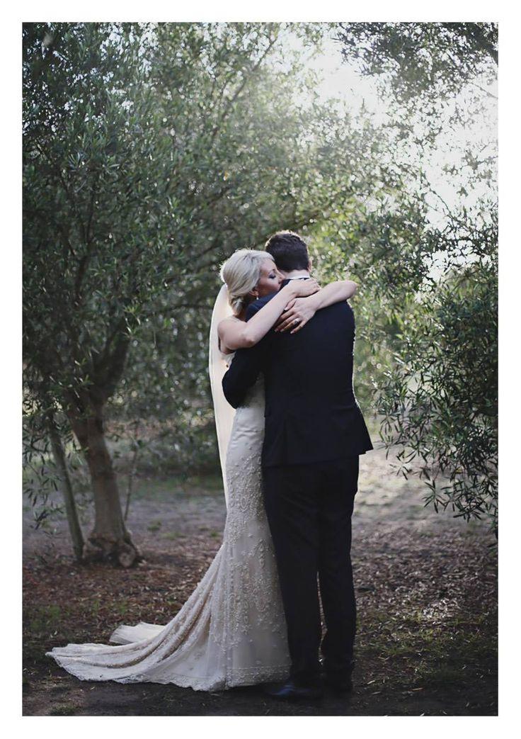 Karyn & James / real bride / wearing custom Rose Zurzolo Couture